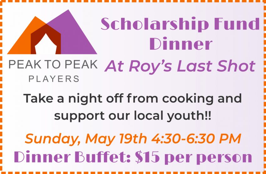 NOW SUNDAY MAY 19th!!!  Roy's Last Shot Scholarship Fund Dinner
